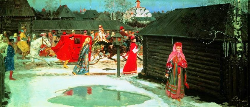 Andrei Ryabushkin - Wedding Train in Moscow (XVII century)