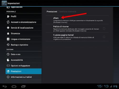 CyanogenMod 9 e zRam
