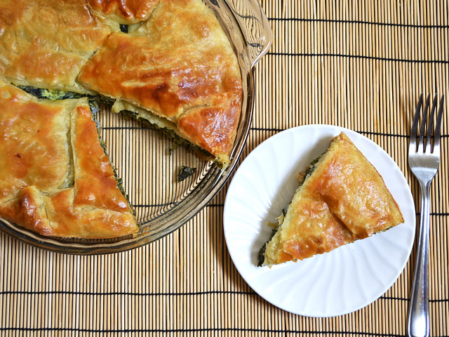 Easy spinach pie puff pastry recipe