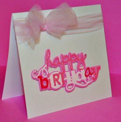 Amanda Sarver Pink Happy Birthday Card Blog Scrapbooking Card