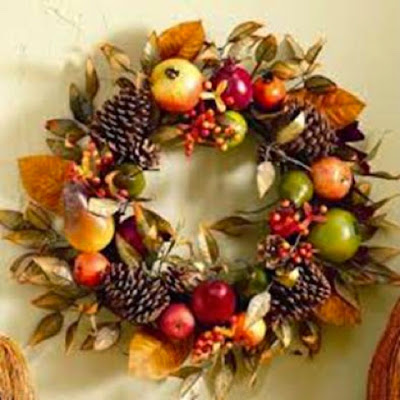 fall wreaths, fall decor, apple decor
