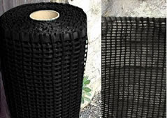 Black mesh fencing - ideal for fixing laminated show signs to