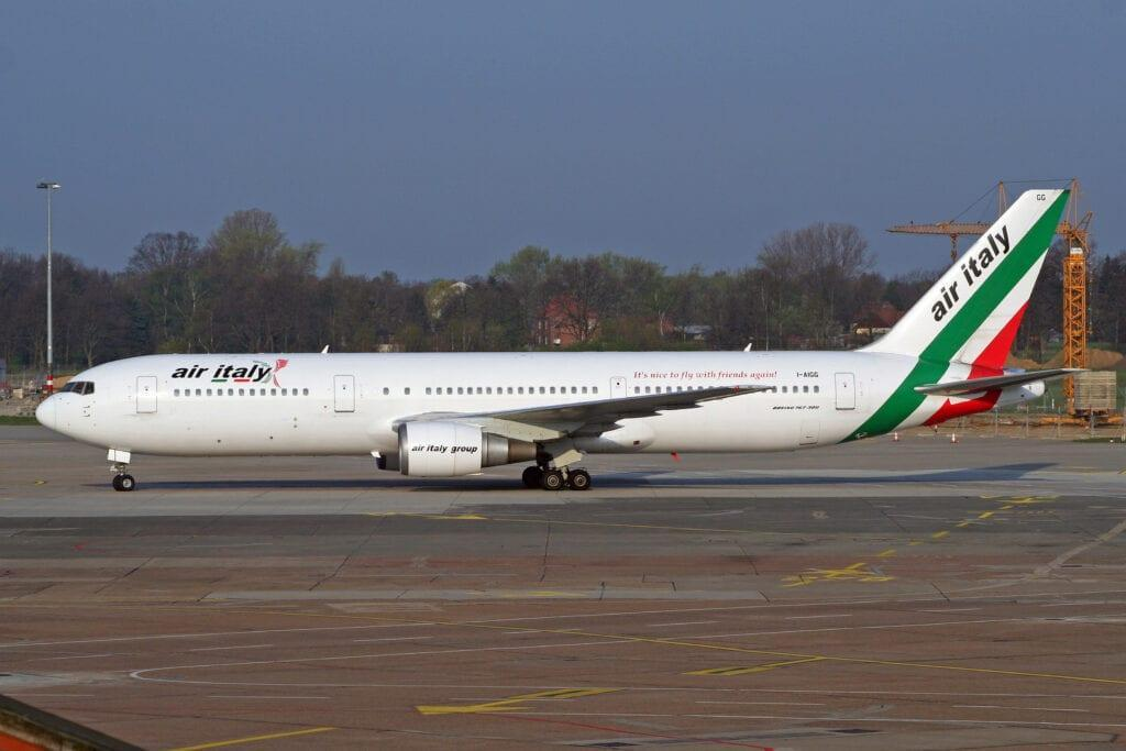 air italy at the airport