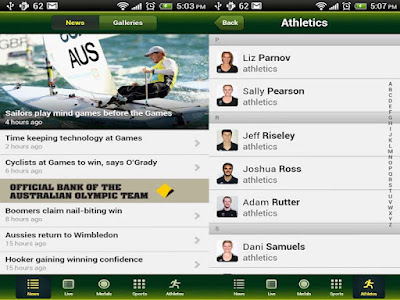 """Australian Olympic Team 2012 android apps"""