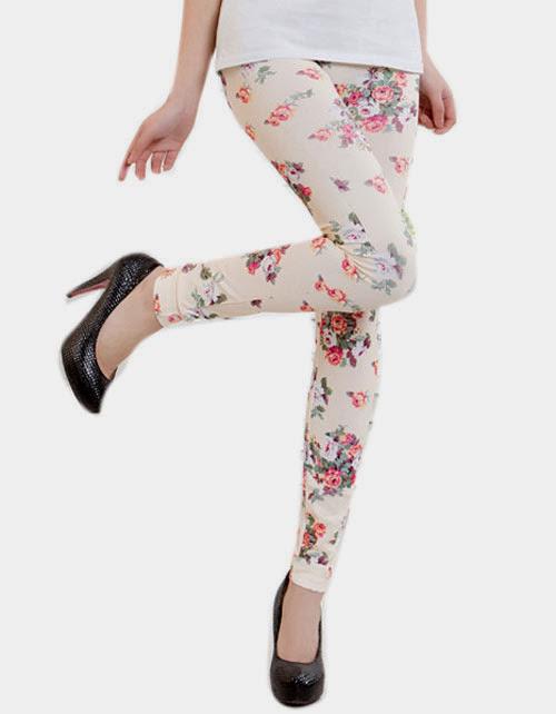 Inspiração: legging estampada - floral