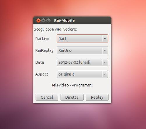 Rai-Mobile su Ubuntu 12.04