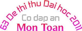 de thi thu dai hoc nam 2011, tuyen tap de thi thu dh, de thi thu dh 2011