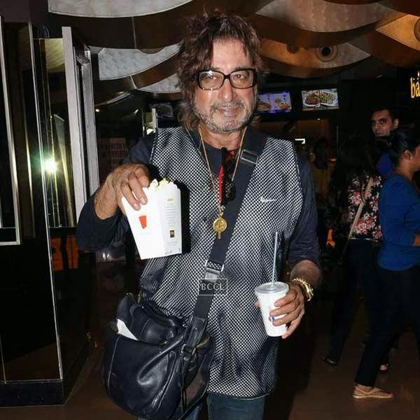 Shakti Kapoor attends the premiere of Bollywood movie Pizza, held at PVR in Mumbai, on July 17, 2014.(Pic: Viral Bhayani)