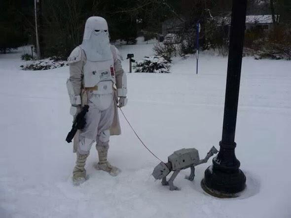 Soldado imperial y su AT-AT