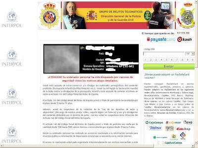 Cómo funciona el virus de la policía, Interpol, Europol, Ukash