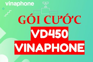 Miễn phí 400 phút ngoại mạng, 18GB, Nội mạng miễn phí gói VD450 Vinaphone