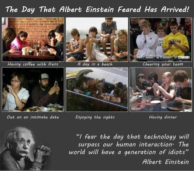 Albert Einstein Social Media Idiots