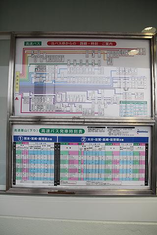 高速基山バス停 下り線 時刻表