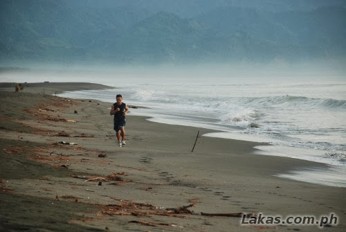 Early morning run at Sabang Beach