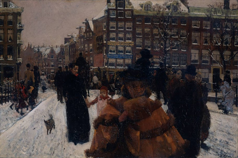 George Hendrik Breitner - Bridge over the Singel near Paleisstraat in Amsterdam