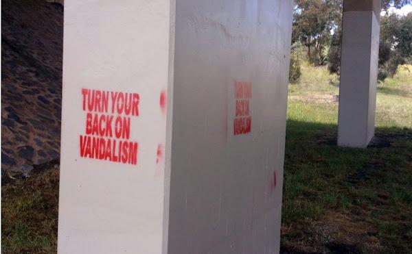 turn your back on vandalism
