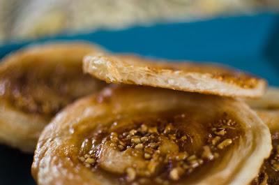 pastry, nougatine, almond, caramel