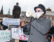 A hapenning protest against manipulated elections in Russia 2011