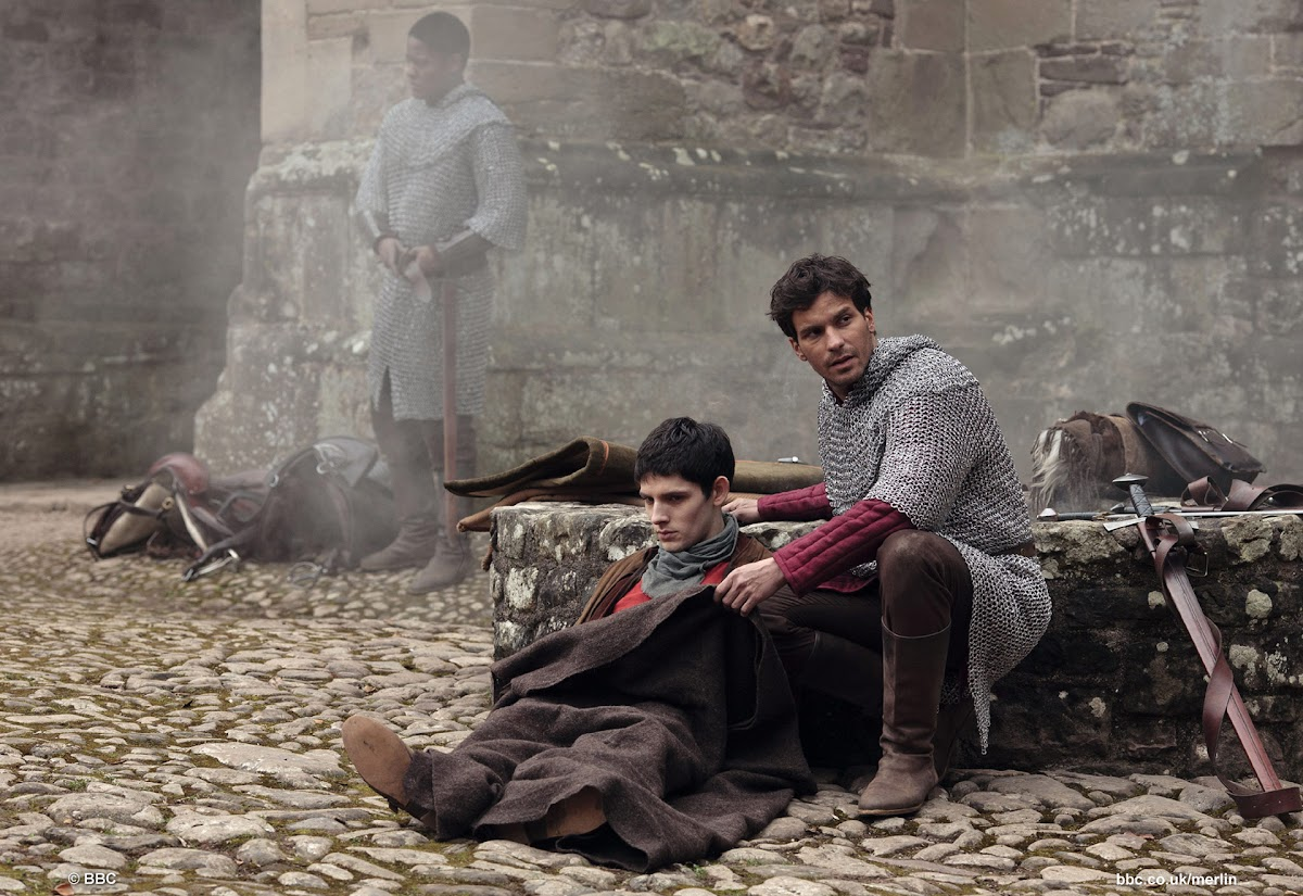 Colin Morgan is Merlin and Santiago Cabrera is Sir Lancelot