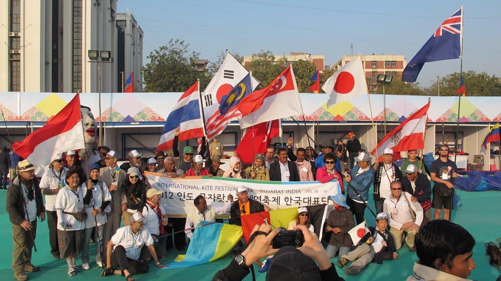 ikf 2012 Ahmedabad, Hindistan, uçurtma festivali