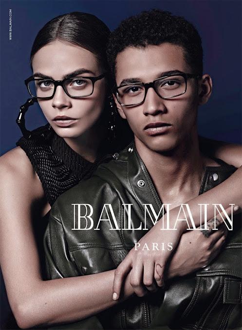 Balmain Eyewear, campaña otoño invierno 2014: Cara Delevingne & Jourdan Dunn