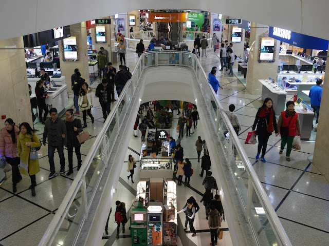 Lower level of Metro City and 1st floor of Buynow in Shanghai