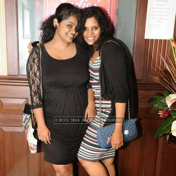 Revati and Kousalya pose together during a Ladies Night party, held at 10 Downing Street.