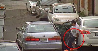 Ladrões de jantes de automóvel apanhados a roubar por guardas de segurança