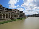 Looking towards the Uffizi Art Museum