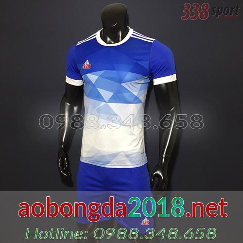 áo không logo xanh dương rio xanh đậm 2018