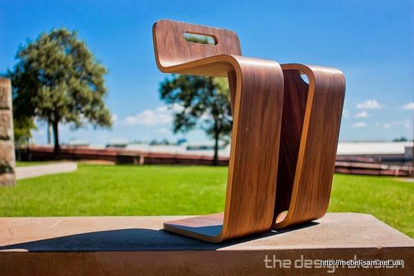 Общий вид стула из гнутоклееной фанеры