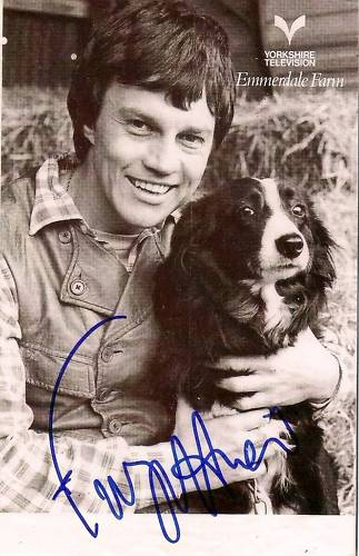 Frazer Hines and a dog