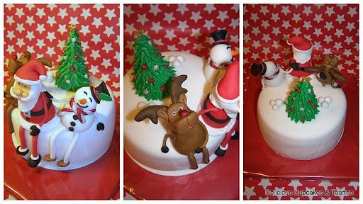 Kerstman, Sneeuwpop, Rendier en Kerstboom.jpg