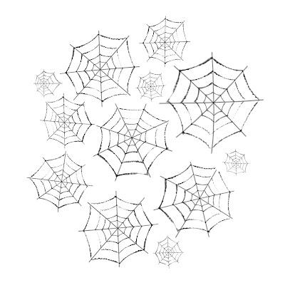 Telas de araña para Halloween.
