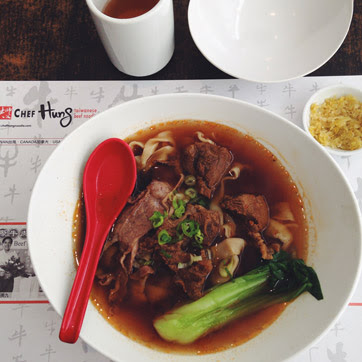 What I am Grateful for This Week: Chef Hung's beef noodle soup.
