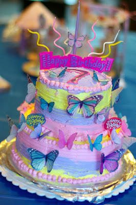 Butterfly Birthday Cake And Vanilla Frosting Recipe