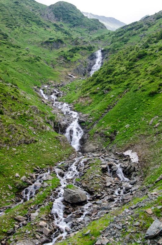 Parte din cascada din Valea Ucea Mare