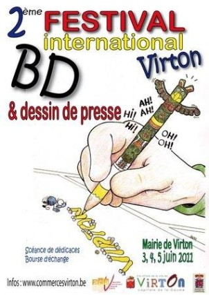 Bruselas Valonia: Segundo festival internacional de banda diseñada en Virton