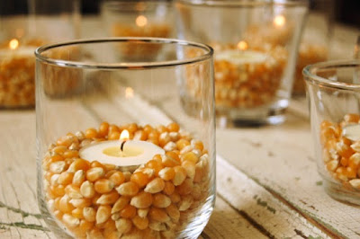 candle, fall decor, corn