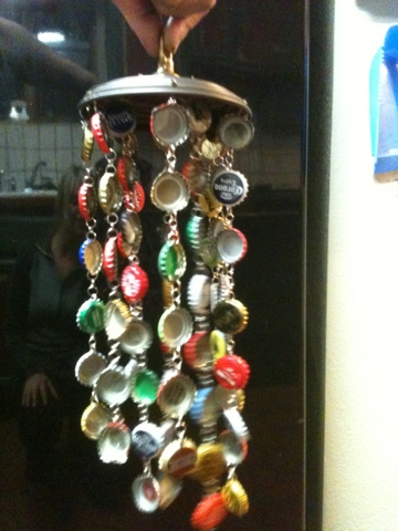 A few jotted notes bottle cap wind chime for Bottle cap wind chime