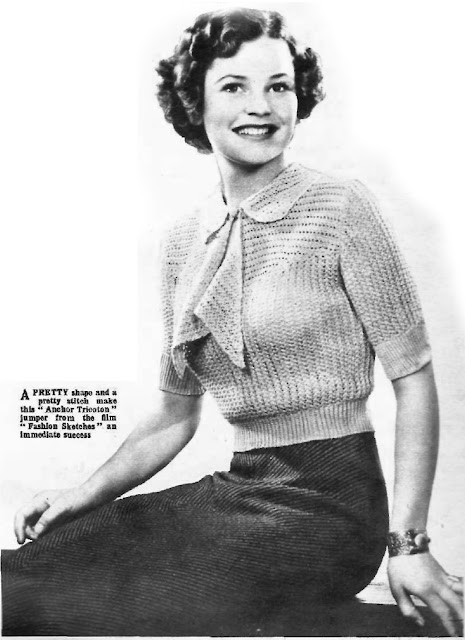 Free 1930's Knitting Pattern Charm For The Afternoon