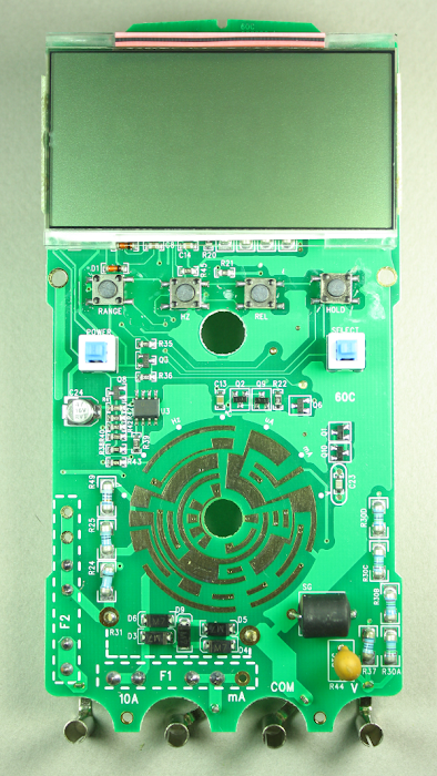 The circuit board for the Tenma 72-7740 DMM.