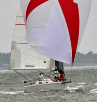J/105 sailing off Lakewood YC in Texas