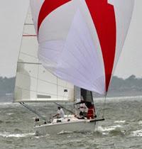 J/105 sailing off Lakewood YC in Texas