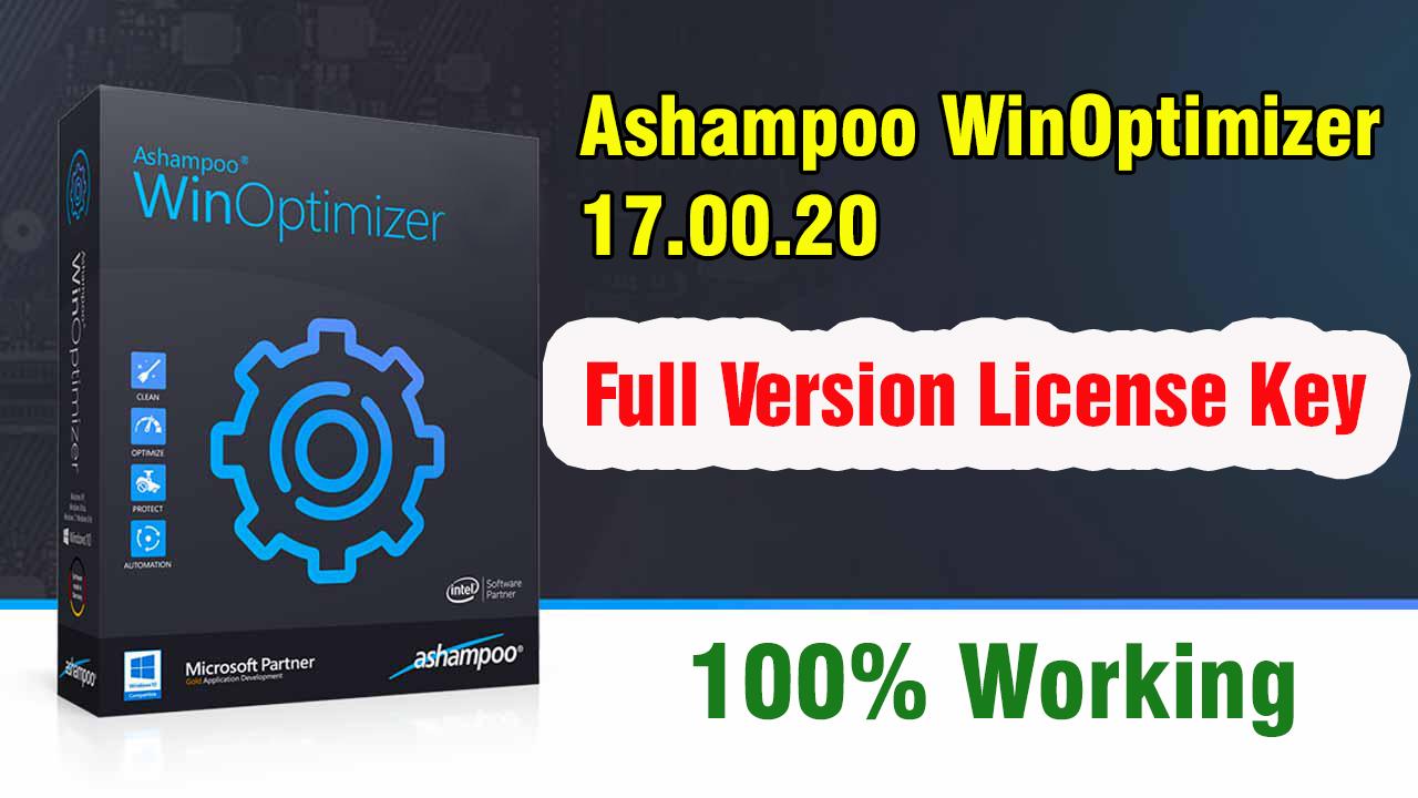 Ashampoo WinOptimizer 17.00.20 Full Version With License Key 2019 (100% Working)