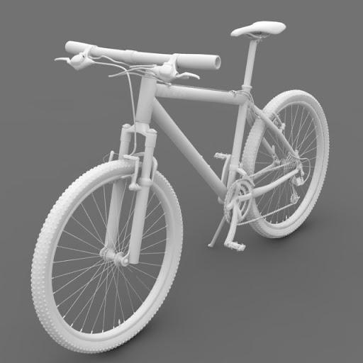 ชุดโมเดลยานพาหนะจาก Archmodels vol.55 Bicycle%25252001