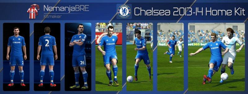 Chelsea 2013-14 Home Kit - PES 2013
