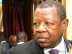 Lambert Mende Omalanga, Ministre congolais de la Communication et des médias le 07/09/2013 au palais du peuple à Kinshasa. Radio Okapi/Ph. John Bompengo