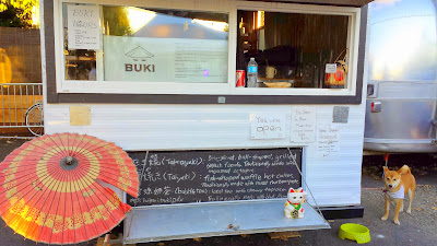 Buki food cart in the Tidbit Food Cart Pod on SE 28th and Division, offering some Japanese Street food, most importantly Takoyaki