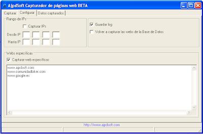 AjpdSoft Capturador de páginas web en funcionamiento - Código fuente completo gratuito en Delphi 6